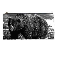 Vintage Usa Alaska Brown Bear 1970 Pencil Case