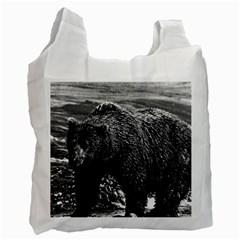 Vintage Usa Alaska Brown Bear 1970 Single Sided Reusable Shopping Bag