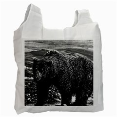 Vintage USA Alaska brown bear 1970 Twin-sided Reusable Shopping Bag