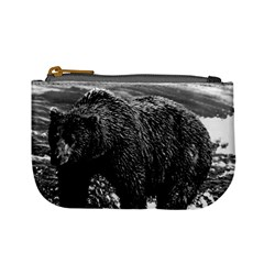 Vintage Usa Alaska Brown Bear 1970 Coin Change Purse