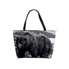 Vintage USA Alaska brown bear 1970 Large Shoulder Bag
