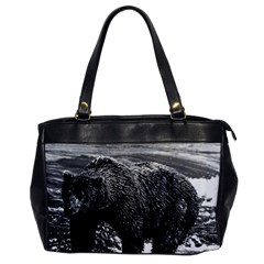 Vintage USA Alaska brown bear 1970 Single-sided Oversized Handbag