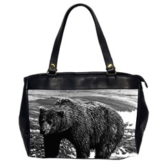 Vintage USA Alaska brown bear 1970 Twin-sided Oversized Handbag