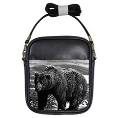 Vintage USA Alaska brown bear 1970 Kids  Sling Bag