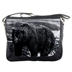 Vintage USA Alaska brown bear 1970 Messenger Bag