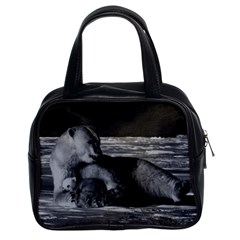 Vintage USA Alaska mother polar bear 1970 Twin-sided Satchel Handbag