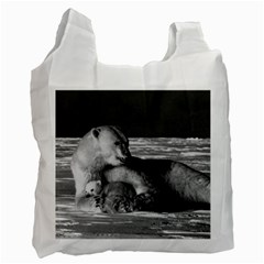 Vintage USA Alaska mother polar bear 1970 Twin-sided Reusable Shopping Bag