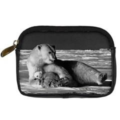 Vintage Usa Alaska Mother Polar Bear 1970 Compact Camera Case