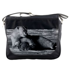 Vintage Usa Alaska Mother Polar Bear 1970 Messenger Bag