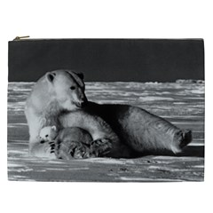 Vintage USA Alaska mother polar bear 1970 Cosmetic Bag (XXL)