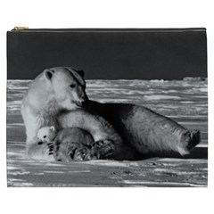 Vintage Usa Alaska Mother Polar Bear 1970 Cosmetic Bag (xxxl)