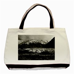 Vintage Usa Alaska Matanuska Clacier 1970 Twin Sided Black Tote Bag