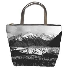 Vintage USA Alaska Matanuska clacier 1970 Bucket Handbag