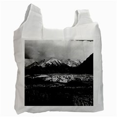 Vintage USA Alaska Matanuska clacier 1970 Single-sided Reusable Shopping Bag
