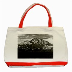 Vintage Usa Alaska Beautiful Mt Mckinley 1970 Red Tote Bag