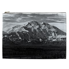 Vintage Usa Alaska Beautiful Mt Mckinley 1970 Cosmetic Bag (xxl)