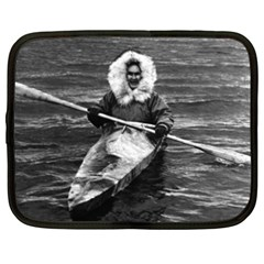 Vintage USA Alaska eskimo and his kayak 1970 15  Netbook Case
