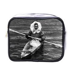 Vintage Usa Alaska Eskimo And His Kayak 1970 Single Sided Cosmetic Case