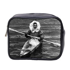 Vintage USA Alaska eskimo and his kayak 1970 Twin-sided Cosmetic Case