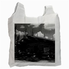 Vintage USA Alaska Modern alaskan log cabin 1970 Single-sided Reusable Shopping Bag