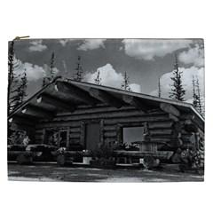Vintage USA Alaska Modern alaskan log cabin 1970 Cosmetic Bag (XXL)