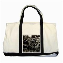Vintage Usa Alaska Bull Moose 1970 Two Toned Tote Bag