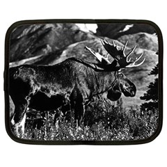 Vintage USA Alaska bull moose 1970 12  Netbook Case