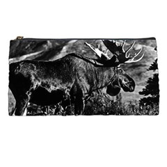 Vintage Usa Alaska Bull Moose 1970 Pencil Case