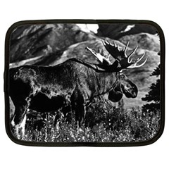 Vintage Usa Alaska Bull Moose 1970 13  Netbook Case