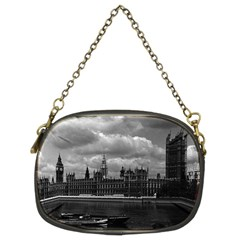 Vintage UK England London The houses of parliament 1970 Twin-sided Evening Purse