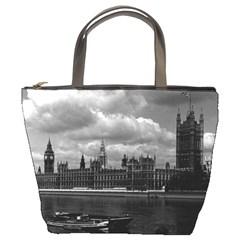 Vintage UK England London The houses of parliament 1970 Bucket Handbag
