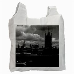 Vintage UK England London The houses of parliament 1970 Twin-sided Reusable Shopping Bag