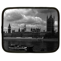 Vintage Uk England London The Houses Of Parliament 1970 13  Netbook Case