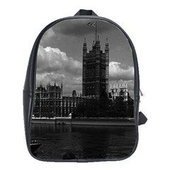Vintage Uk England London The Houses Of Parliament 1970 Large School Backpack