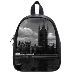 Vintage Uk England London The Houses Of Parliament 1970 Small School Backpack