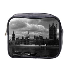 Vintage Uk England London The Houses Of Parliament 1970 Twin Sided Cosmetic Case