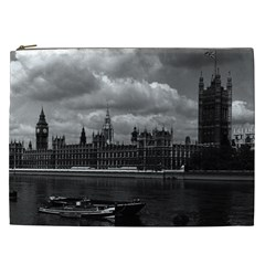 Vintage Uk England London The Houses Of Parliament 1970 Cosmetic Bag (xxl)