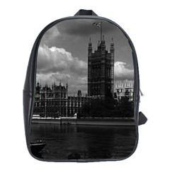 Vintage Uk England London The Houses Of Parliament 1970 School Bag (xl)