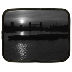 Vintage UK England London sun sets Tower Bridge 1970 13  Netbook Case