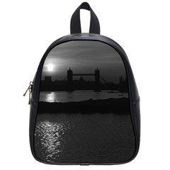 Vintage UK England London sun sets Tower Bridge 1970 Small School Backpack