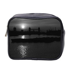 Vintage UK England London sun sets Tower Bridge 1970 Twin-sided Cosmetic Case