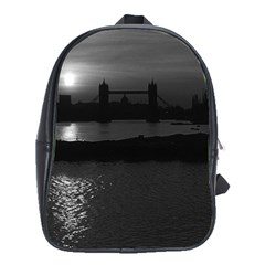 Vintage UK England London sun sets Tower Bridge 1970 School Bag (XL)