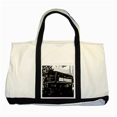 Vintage UK England London double decker bus 1970 Two Toned Tote Bag