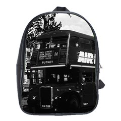 Vintage UK England London double decker bus 1970 Large School Backpack