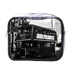Vintage Uk England London Double Decker Bus 1970 Single Sided Cosmetic Case