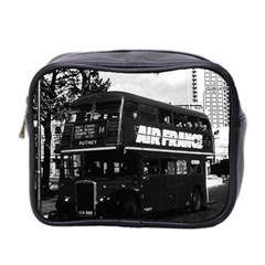 Vintage Uk England London Double Decker Bus 1970 Twin Sided Cosmetic Case