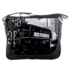 Vintage UK England London double decker bus 1970 Messenger Bag