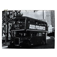 Vintage UK England London double decker bus 1970 Cosmetic Bag (XXL)