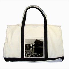 Vintage England London Buckingham palace St James Park Two Toned Tote Bag