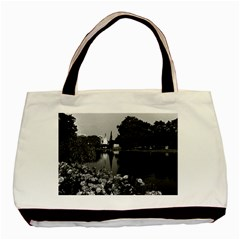 Vintage England London Buckingham Palace St James Park Twin Sided Black Tote Bag